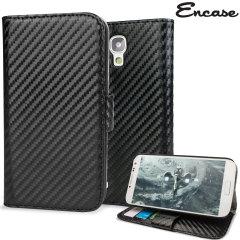 Slimline Carbon Fibre-Style Samsung Galaxy S4 Horizontal Flip Case