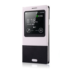 Smart Cover Case for Samsung Galaxy Note 3 - Black / White