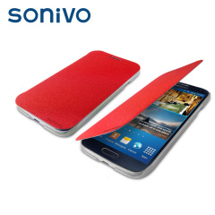 Sonivo Slim Wallet Case with Sensor for Samsung Galaxy S4 - Red