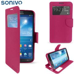 Sonivo Sneak Peek Flip Case for Samsung Galaxy Mega 6.3 - Pink