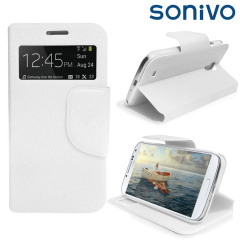 Sonivo Sneak Peek Flip Case for Samsung Galaxy S4 - White