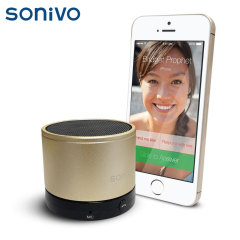 Sonivo SW100 Bluetooth Speaker Phone - Gold