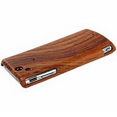 Sony Ericsson Xperia arc S / arc Wood Design Hard Case - Dark Wood