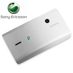 Sony Ericsson XPERIA X8 Mini Replacement Back Cover - Silver/White