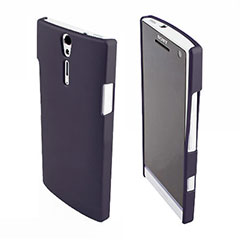 Sony Xperia S Rubberized Back Hard Case - Black