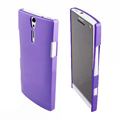 Sony Xperia S Rubberized Back Hard Case - Purple