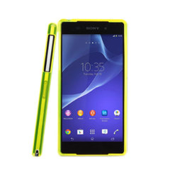 Sony Xperia Z2 Soft Case with Fluorescent Bumper - Yellow