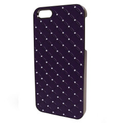 Sparkles Diamante Case For iPhone 5S / 5 - Purple