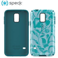Speck CandyShell Inked Samsung Galaxy S5 - Wallflowers / Atlantic Blue