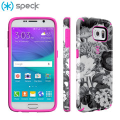 Speck CandyShell Inked Samsung Galaxy S6 Case - Floral Pink / Grey