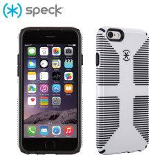 SpeckCandyShell Grip iPhone 6 Case - White / Black