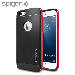 Spigen Neo Hybrid Metal iPhone 6 Case - Metal Red