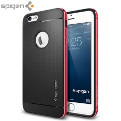 Spigen Neo Hybrid Metal iPhone 6 Plus Case - Metal Red