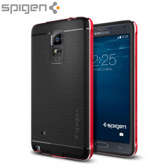 Spigen Neo Hybrid Metal Samsung Galaxy Note 4 Case - Metal Red