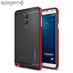 Spigen Neo Hybrid Samsung Galaxy Note 4 Case - Electric Red