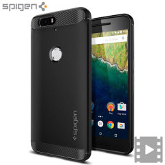 Spigen Rugged Armor Nexus 6P Tough Case - Black