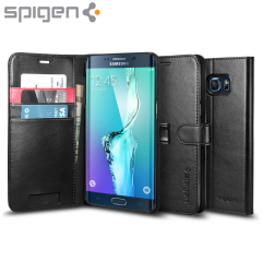 Spigen Samsung Galaxy S6 Edge Plus Wallet S Case - Black