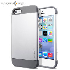 Spigen Slim Armor Case for iPhone 5S / 5 - Satin Silver