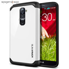 Spigen Slim Armor Case for LG G2 - Infinity White