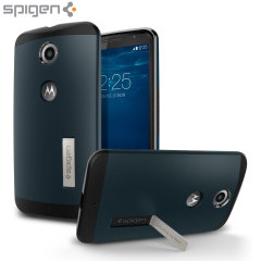 Spigen Slim Armor Google Nexus 6 Tough Case - Metal Slate