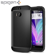 Spigen Slim Armor HTC One M8 Case - Smooth Black