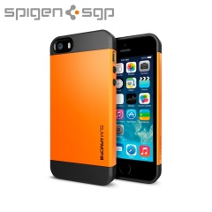 Spigen Slim Armor S Case for iPhone 5S / 5 - Tangerine Tango