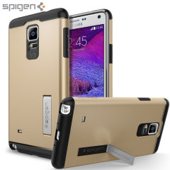 Spigen Slim Armor Samsung Galaxy Note 4 Tough Case - Champagne Gold