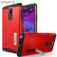Spigen Slim Armor Samsung Galaxy Note 4 Tough Case - Electric Red