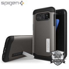 Spigen Slim Armor Samsung Galaxy S7 Edge Case - Gunmetal