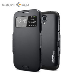 Spigen Slim Armor View Case for Galaxy S4 - Soul Black