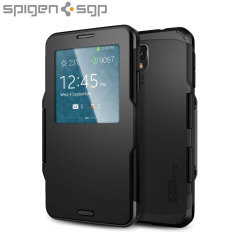 Spigen Slim Armor View Galaxy Note 3 Japanese Model Case - Black