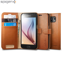 Spigen Samsung Galaxy S6 Wallet S Case - Brown