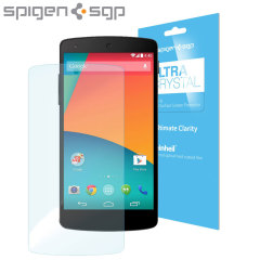 Spigen Steinheil Ultra Crystal LG Nexus 5 Screen Protector - Twin Pack
