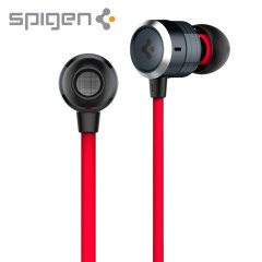 Spigen TEKA Aluminium Earphones - Black / Red