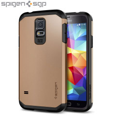 Spigen Tough Armor Case for Samsung Galaxy S5 - Copper Gold