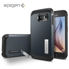 Spigen Tough Armor Samsung Galaxy S6 Case - Metal Slate
