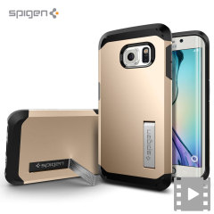Spigen Tough Armor Samsung Galaxy S6 Edge Case - Champagne Gold