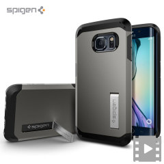 Spigen Tough Armor Samsung Galaxy S6 Edge Case - Gunmetal