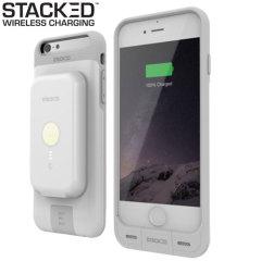Stacked iPhone 6S/6 Plus Wireless Charging Case & Power Pack - White