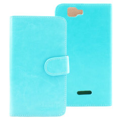 Stand and Type Wiko Rainbow Folio Case - Light Blue