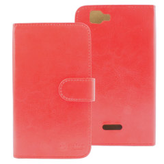Stand and Type Wiko Rainbow Folio Case - Red
