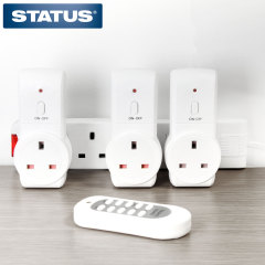 Status 3 Pack Remote Controlled Plug Sockets
