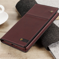 STIL Toscano Wine Genuine Leather iPhone 7 Plus Wallet Case - Burgundy