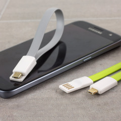 STK Short Micro USB Magnetic Charge and Sync Cable - Twin Pack