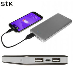 STK Universal Power Bank Dual USB 12000mAh - Cool Grey