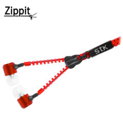 STK Zippit 3.5mm Anti-Tangle Earphones and Hands-free Microphone-Red