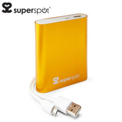 SuperSpot Power Bank 10,400mAh - Gold