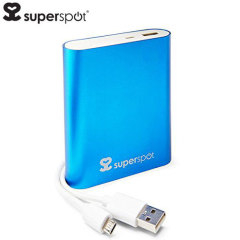 SuperSpot Power Bank 10,400mAh - Light Blue
