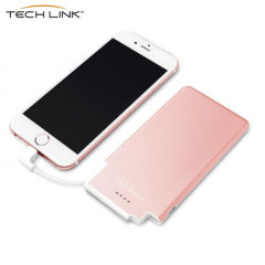TECHLINK Recharge 3000mAh Power Bank & Genuine Leather Case - Gold