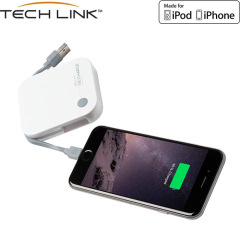TECHLINK ReCharge 4000mAh Lightning Power Bank - White
